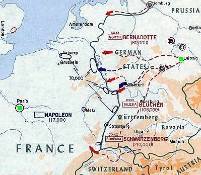 Battle Of Leipzig Battle Of Nations Napoleon Schlacht - Map of leipzig